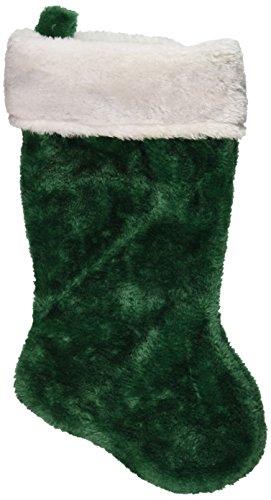 1 x green plush christmas stocking