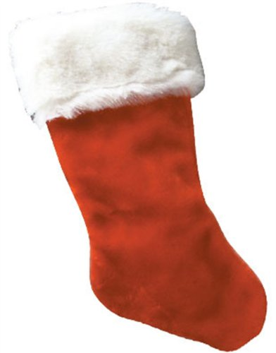 Red Christmas Stocking.11 13 Plush Red Christmas Stocking With White Fur Trim