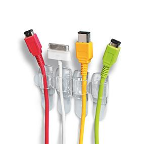 Command Clear Round Cord Clips keep cords organized and safely out of the way