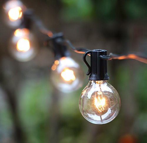 G40 Globe String Lights With 25 Bulbs UL Listed For Indoor/Outdoor  Commercial Use, Outdoor String Lights, Clear Bulb String Lights, Vintage  Lights, ...