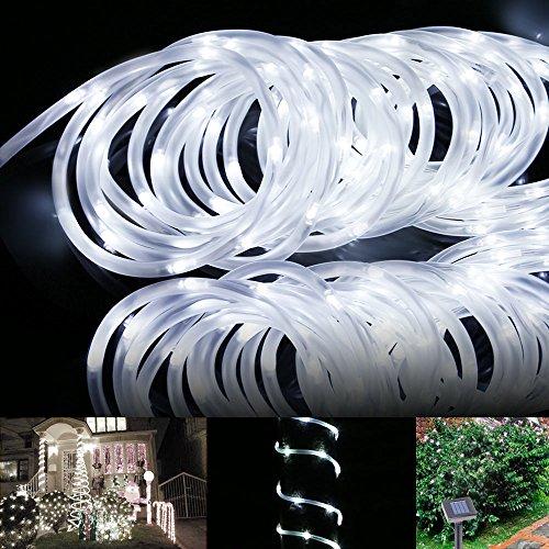 Le 174 16 5ft Led Solar Rope Lights Waterproof 50 Leds