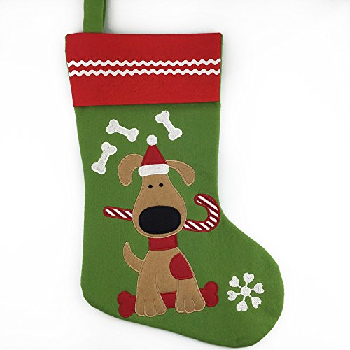 Christmas Stockings For Dogs.Lovely Pets Pattern Christmas Stockings Dog Or Cat 16 Inch Length Dog