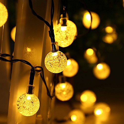 pretty nice 32014 d129b LuckLED Globe Solar Christmas Lights, 20ft 30LED Fairy Bubble Crystal Ball  String Lights Decorative Lighting for Indoor/Outdoor, Garden, Home, Lawn,  ...