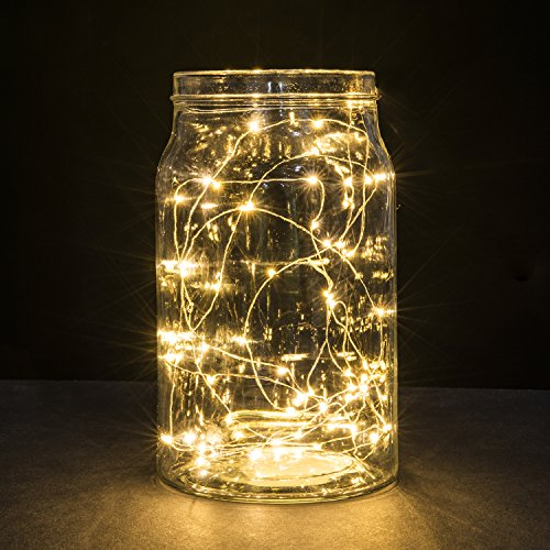 String Lights, 2 Set of Micro 30 LEDs Super Bright Warm White ...