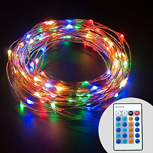 TaoTronics Dimmable Color LED String Lights, Outdoor Lights Star Lights with 33 ft Copper Wire ...