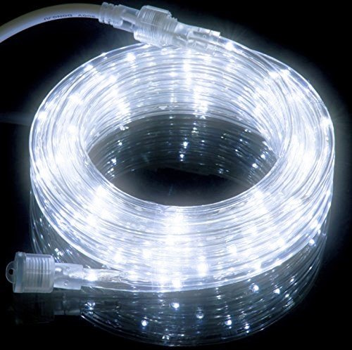 Led String Lights Reject Shop: 18FT Cool White LED Flexible Rope Light Kit For Indoor