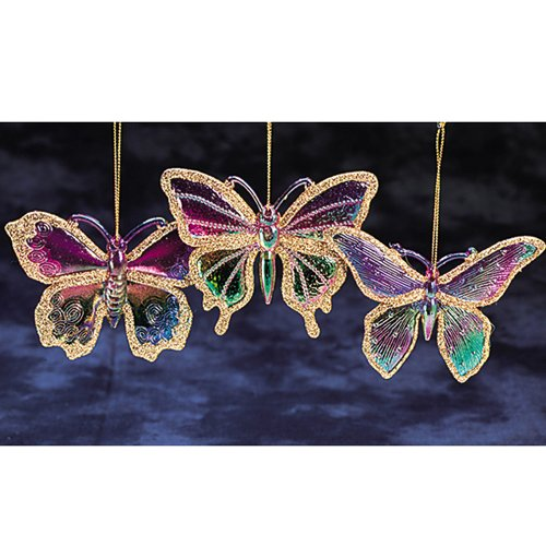 Princess garden iridescent rainbow golden glitter for Outdoor butterfly ornaments