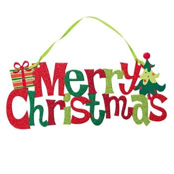 merry christmas glitter door hanger christmas decorations - Merry Christmas Decorations